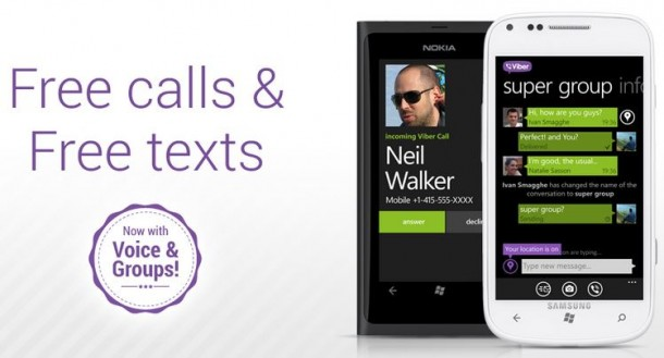 Viber for Windows Phone 610x329 - Viber ganha versão exclusiva para a linha Lumia (Windows Phone)