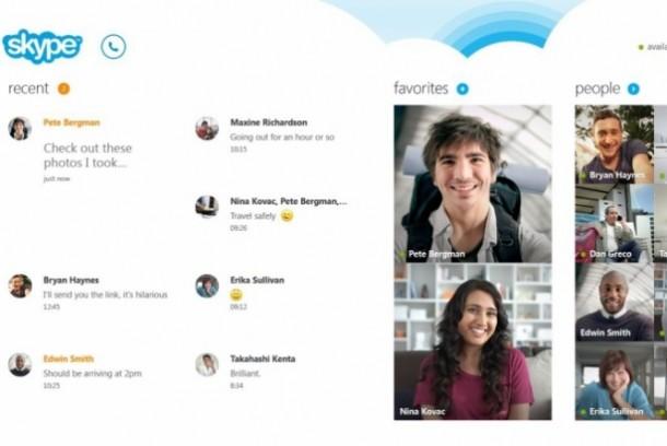 Skype interface 610x408 - Skype deverá substituir MSN no Windows 8