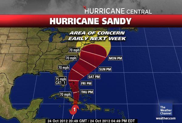 furacão Sandy - Google adia evento sobre o Android por causa de furacão
