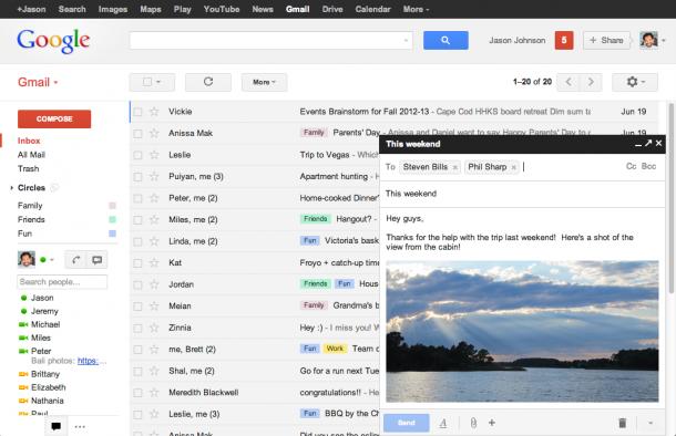 Google adiciona novos recursos ao gmail. O google introduziu nesta semana uma nova forma de apresentação de mensagens no gmail. A novidade promete facilitar o acesso e consulta a emails da caixa de entrada, sem necessidade de sair da tela de edição...