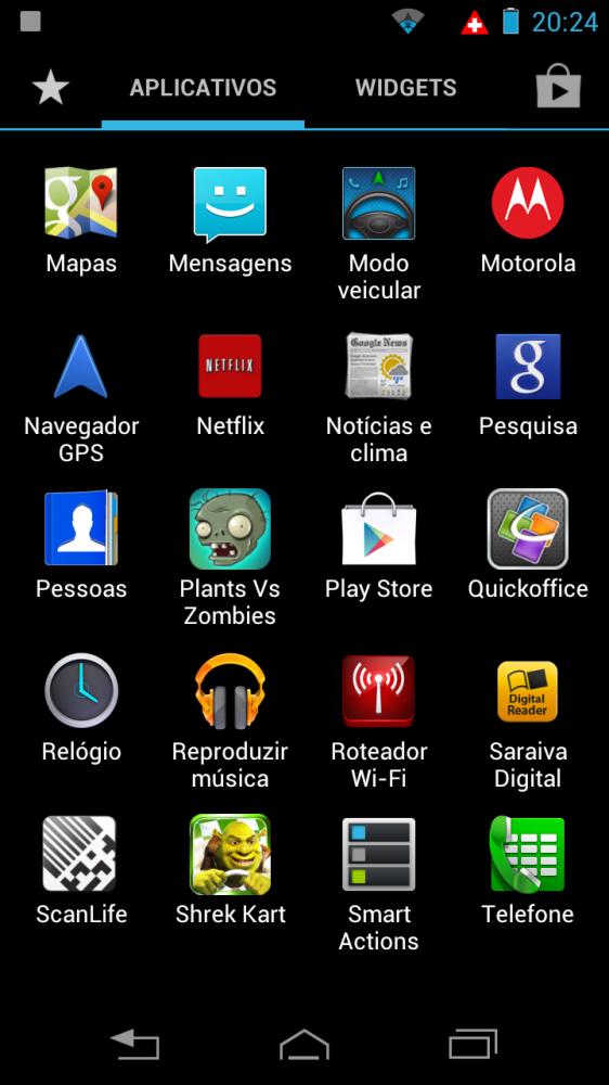 razrhd launcher05 562x1000 - Review: Razr HD - primeiro telefone 4G do Brasil