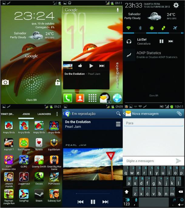 Rom custom Android Open Kang Project (AOKP) para o Samsung Galaxy S2 4