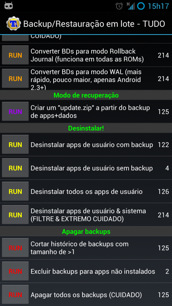 Titanium backup - screenshot 01