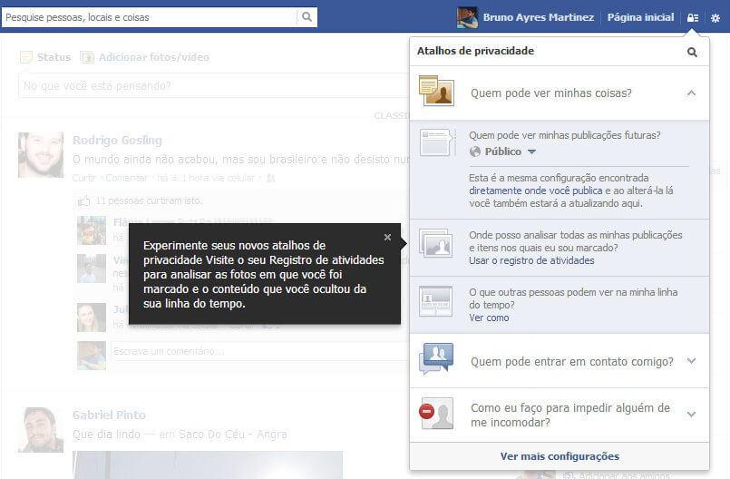 Facebook Privacy new - Facebook facilita o acesso às configurações de privacidade