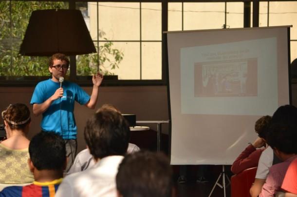 Helder Ribeiro explica como funciona o aplicativo Meleva