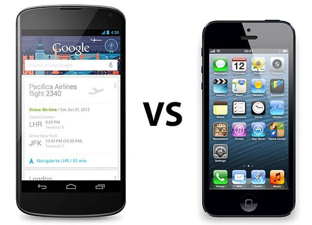 nexus4 vs iphone 5 header original - Vídeo: Android 4.2 (Jelly Bean) vs. iOS 6.1
