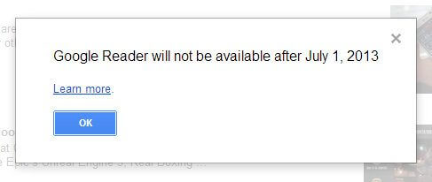 Fim do Google Reader - Google anuncia o fim do Google Reader