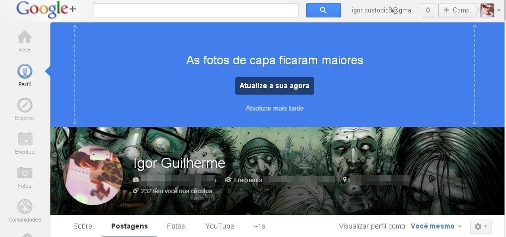 G+ - Google anuncia mudanças nos perfis e páginas do Google+