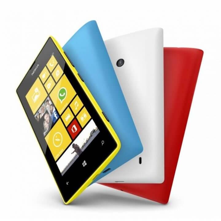 700 nokia lumia 520 yellow cyan white red 720x720 - Nokia Lumia 520 chega ao Brasil por R$ 599