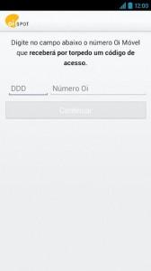 OiSpotAndroid1 168x300 - Oi lança Oi Spot, aplicativo para relatar problemas de rede