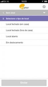 OiSpotiPhone2 168x300 - Oi lança Oi Spot, aplicativo para relatar problemas de rede