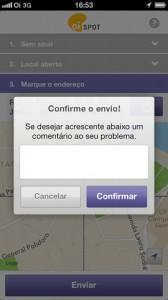 OiSpotiPhone4 168x300 - Oi lança Oi Spot, aplicativo para relatar problemas de rede
