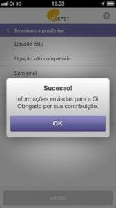 OiSpotiPhone5 168x300 - Oi lança Oi Spot, aplicativo para relatar problemas de rede