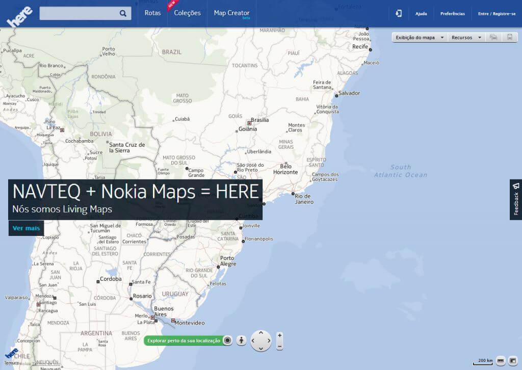 Here - Nokia lança oficialmente o Nokia Here no Brasil, serviço de mapas que impressiona pela qualidade de dados