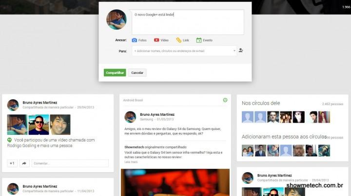 Novo new google+ google io 2013