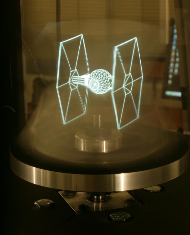 Display de campo de luz produzido pelo laboratório gráfico ICT