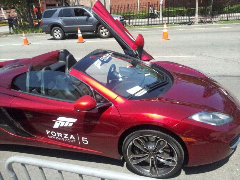 Carro usado na apresentação do Forza 5 - Microsoft: Xbox One vai custar US$ 500 nos Estados Unidos