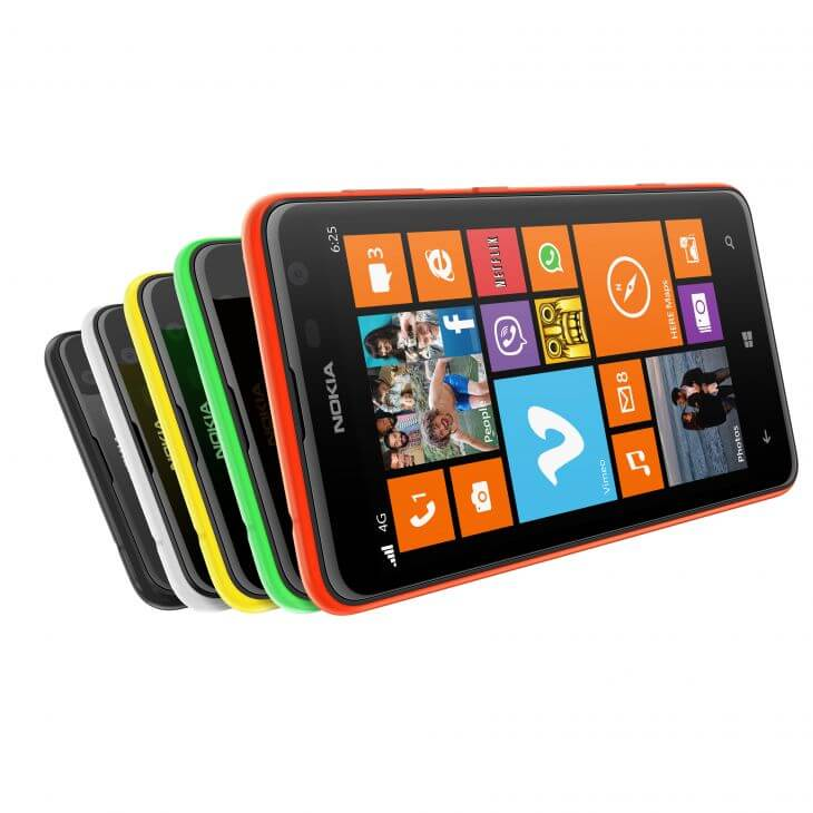 Nokia Lumia 625 1 - Microsoft e Nokia divulgam infográfico com o passado de inovações das empresas