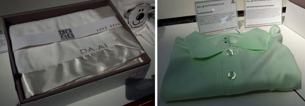 DA.AI cobertor e camisa polo - Exposição traz ao Brasil produtos inovadores de Taiwan