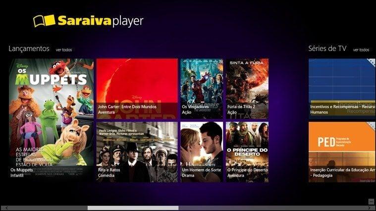 Saraiva Player - Saraiva lança sistema de compra e locação de filmes para Xbox One