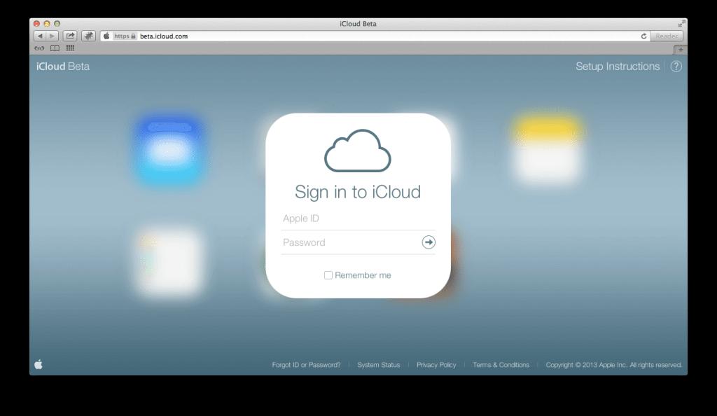 Screen Shot 2013 08 15 at 9.07.02 AM - iCloud.com beta recebe visual do iOS 7
