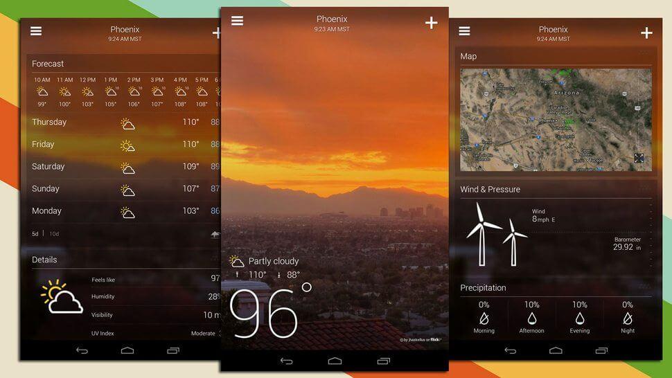 yahoo tempo nova interface - Atualização do Yahoo! Tempo traz nova interface ao Android