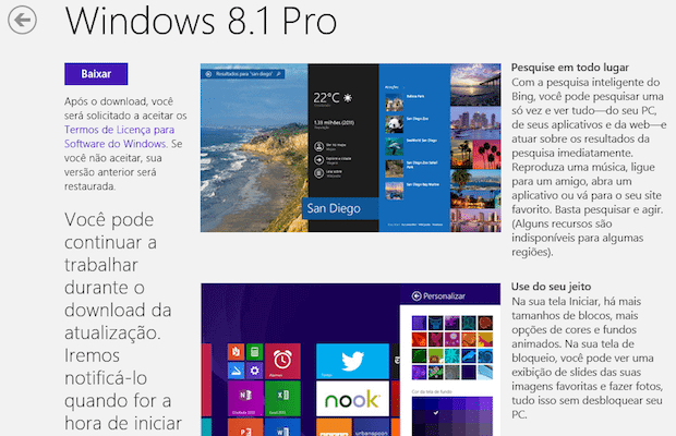 Atualização Windows 8.1 update 2