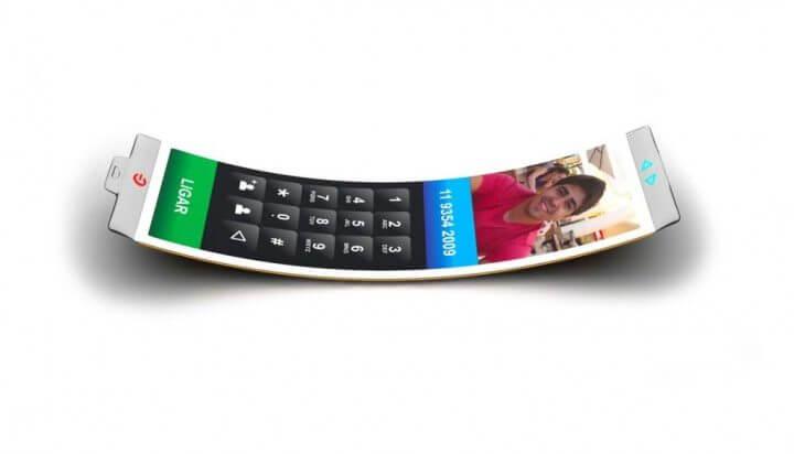 philips fluid oled curved smartphone dinard da mata celular tela curvada 7 720x412 - Fluid: um smartphone com tela OLED em forma de bracelete