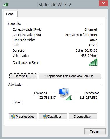 Exemplo WiFi ac em 5GHz