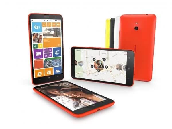 600 nokia lumia 1320 group - Nokia lança smartphones com tela de 6 polegadas
