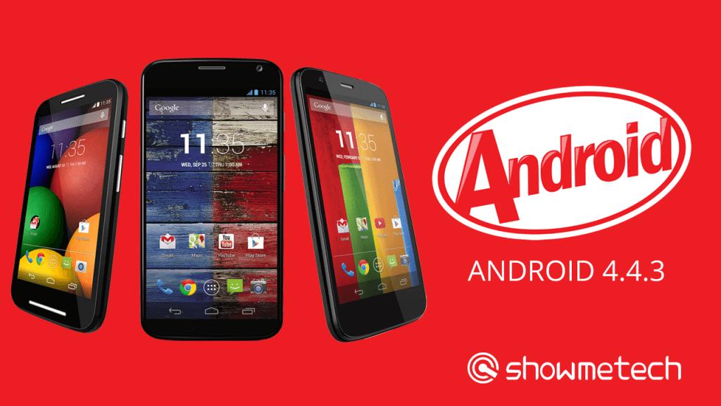 Família Moto Android 4.4.3 - Em tempo recorde: Moto G, Moto X e Moto E recebem o Android 4.4.3
