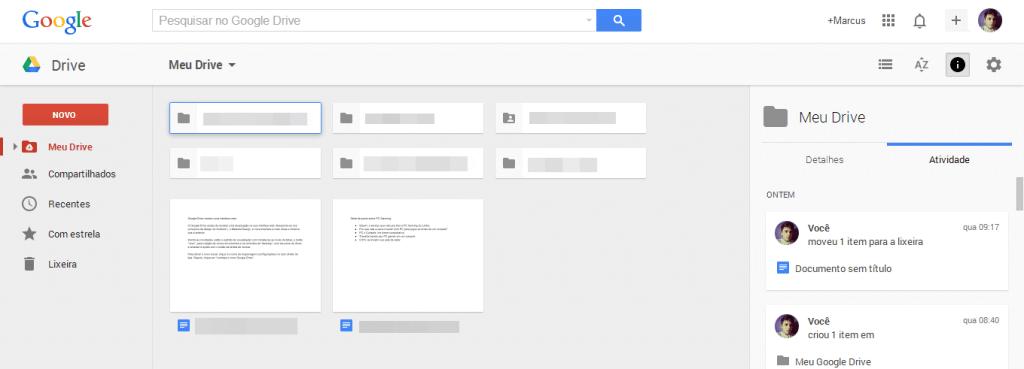 Captura de Tela 49 - Google Drive ganha novo visual na versão Web