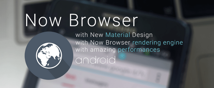 Capturar - Now Browser Material: um navegador levíssimo para seu dispositivo Android