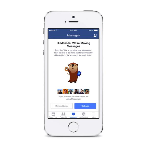 Facebook Messenger - Facebook vai obrigar uso de Messenger para chats nos smartphones