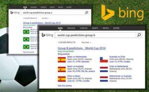 Previsao Bing para Copa do Mundo