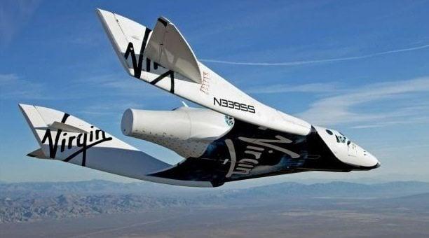 Espaçonave que será usada pela Virgin Galatic para viagens ao espaço / reprodução