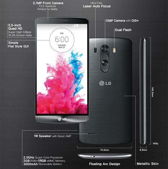 LG G3 características