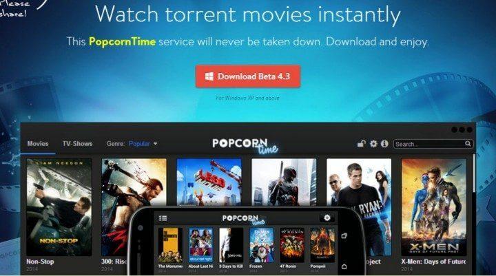 Popcorn time android windows mac os pc linux ios apple tv chromecast