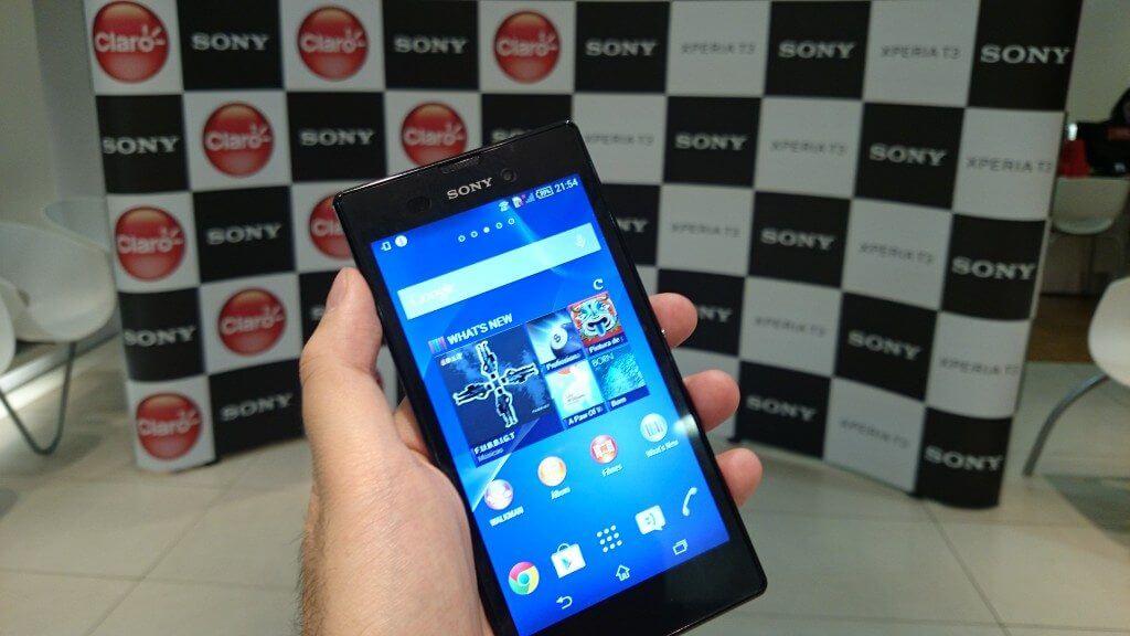 Sony Xperia T3 SMT 02 - Sony Xperia T3 chega com exclusividade na Claro