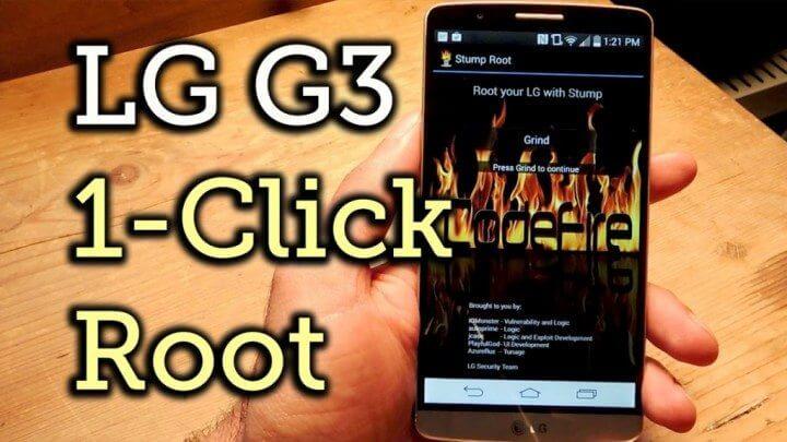 Stump Root LG G3 acesso