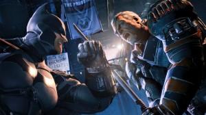 Batman x deathstroke (imagem da galeria oficial do jogo)