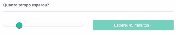 Usuários podem participar da comunidade, informando o tempo de espera de um serviço.