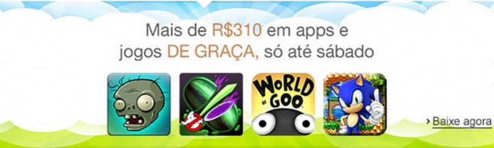 amazon 720x216 - Amazon: apps e jogos de graça até sábado