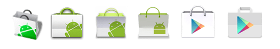 Google Play Store icon evolution evolucao