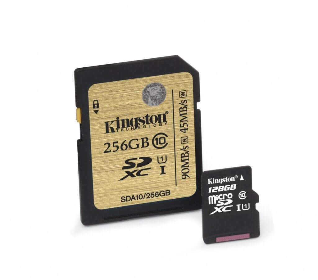 kingston digital class 10 uhs i microsd and class 10 uhs i sdhc sdxc cards debut 1 - Kingston lança cartões SD e MicroSD de até 256GB