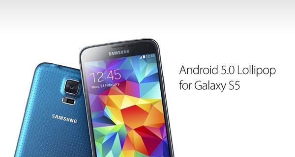 Lollipop deve chegar para Samsung Galaxy S5 em dezembro