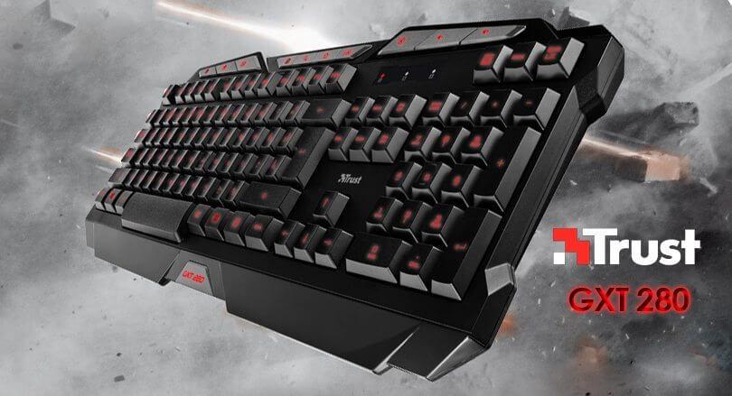 Trust GXT-280 keyboard teclado review