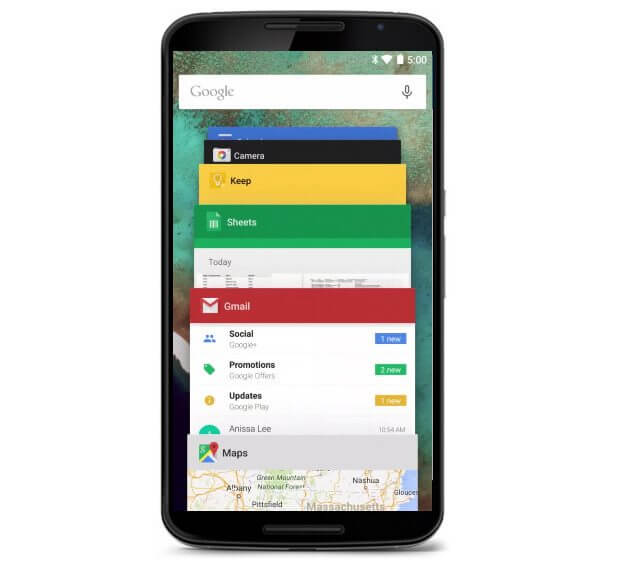 Android Lollipop, com Material Design