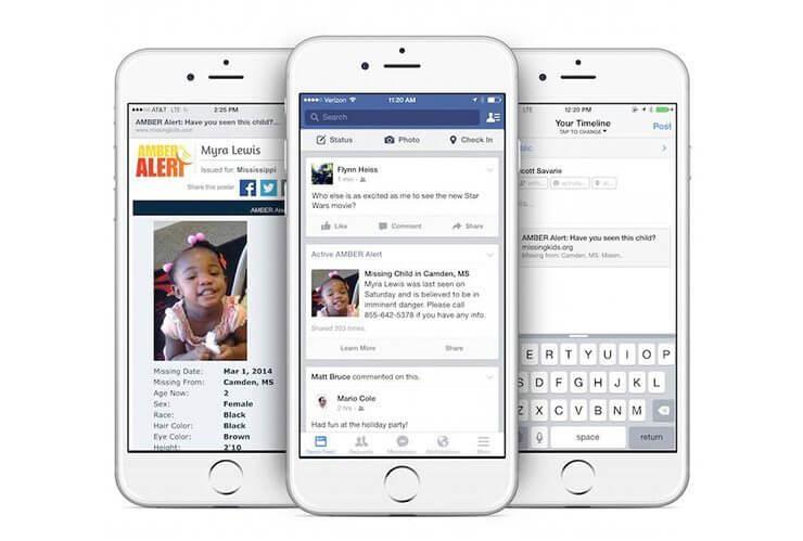fb amberalert - Facebook irá alertar sobre crianças desaparecidas