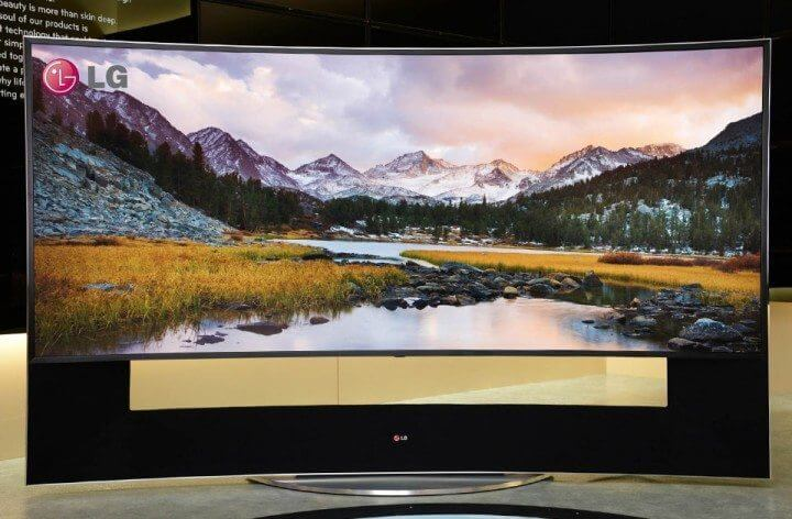 TV LG 105 polegadas curva com tecnologia QD-LED 5k